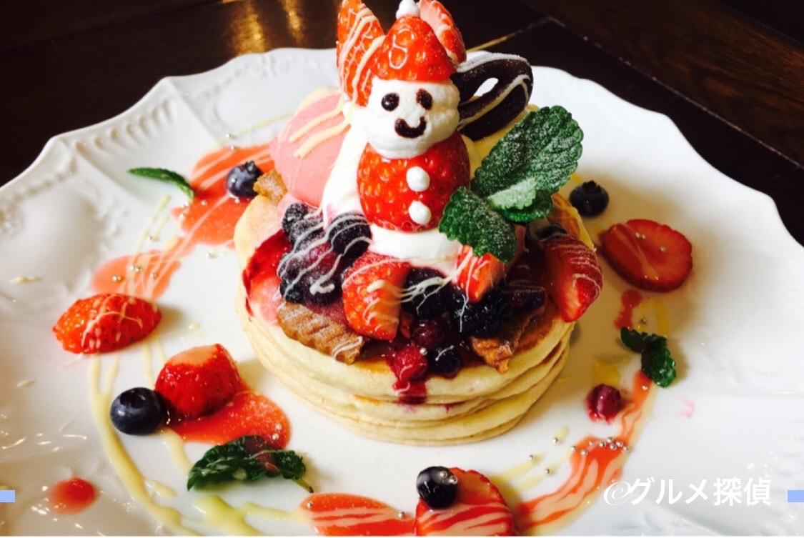 【グルメ探偵】※画像8 「クリスマスパンケーキ(1000円)」