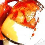 桃の香りの苺「ももみ」が入った期間限定桃薫のプリン&ゼリー!