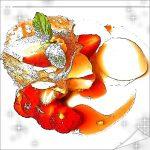資生堂ビル15周年!夏いちご'恋姫'を使用した苺パフェに特製デザート!